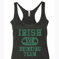 Ladies Tanktop Irish Drinking Team Tri Blend Racerback Tank Top