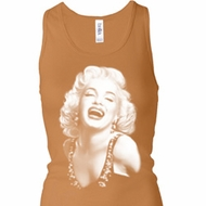Ladies Tanktop Marilyn Laughing Longer Length Racerback Tank