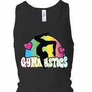 Ladies Tanktop Neon Gymnastics Longer Length Racerback Tank Top