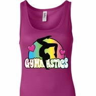 Ladies Tanktop Neon Gymnastics Longer Length Tank Top