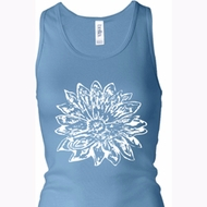 Ladies Tanktop Sketch Lotus Longer Length Racerback Tank