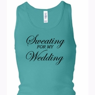 Ladies Tanktop Sweating For My Wedding Longer Length Racerback Tank