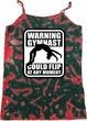 Ladies Tanktop Warning Gymnast Could Flip Tie Dye Camisole Tank Top