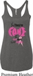 Ladies Tanktop Yes, They're Fake Tri Blend Racerback Tank Top