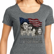 Ladies Three Stooges Shirt Rushmorons Lace Back Tee T-Shirt