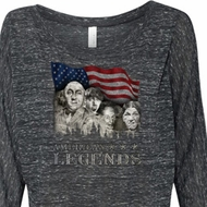 Ladies Three Stooges Shirt Rushmorons Off Shoulder Tee T-Shirt
