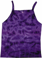 Ladies Tie Dye Tank Top Crinkle Purple