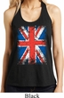 Ladies UK Flag Tanktop Union Jack Shimmer Loop Back Tank Top