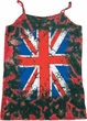 Ladies UK Flag Tanktop Union Jack Tie Dye Camisole Tank Top