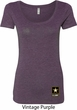 Ladies US Army Bottom Print Scoop Neck