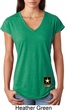 Ladies US Army Bottom Print Tri Blend V-neck