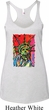 Ladies USA Tank Top Statue of Liberty Painting Tri Blend Racerback