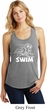 Ladies White Penguin Power Swim Racerback Tank Top