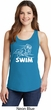 Ladies White Penguin Power Swim Tank Top