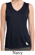 Ladies Yin Yang Patch Bottom Print Sleeveless Moisture Wicking Tee