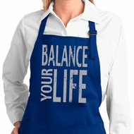Ladies Yoga Apron Balance Your Life Full Length Apron with Pockets