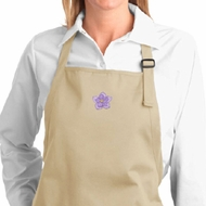 Ladies Yoga Apron Layered Flower Patch Full Length Apron with Pockets