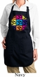 Ladies Yoga Apron Pop Art Om Full Length Apron with Pockets