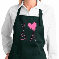 Ladies Yoga Apron Yoga Love Full Length Apron with Pockets