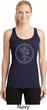 Ladies Yoga Circle Ganesha White Print Dry Wicking Racerback