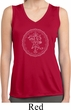 Ladies Yoga Circle Ganesha White Print Dry Wicking Sleeveless Shirt