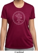 Ladies Yoga Circle Ganesha White Print Moisture Wicking Shirt