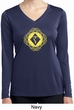 Ladies Yoga Diamond Manipura Dry Wicking Long Sleeve V-neck