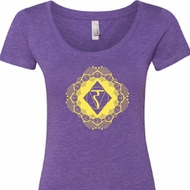 Ladies Yoga Diamond Manipura Scoop Neck