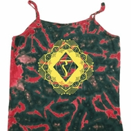 Ladies Yoga Diamond Manipura Tie Dye Camisole Tank Top