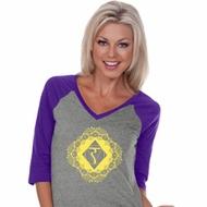 Ladies Yoga Diamond Manipura V-neck Raglan Shirt