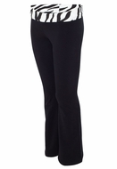 Ladies Yoga Practice Pants - Fold Down - Cotton/Spandex