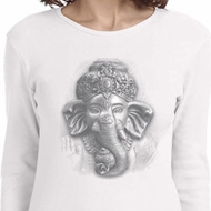 Ladies Yoga Shirt 3D Ganesha Lights Long Sleeve Tee