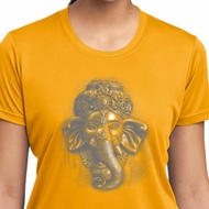 Ladies Yoga Shirt 3D Ganesha Lights Moisture Wicking Tee T-Shirt
