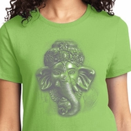 Ladies Yoga Shirt 3D Ganesha Lights Tee T-Shirt
