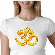Ladies Yoga Shirt 3D OM Crewneck Tee T-Shirt