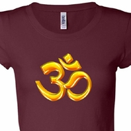 Ladies Yoga Shirt 3D OM Longer Length Tee T-Shirt