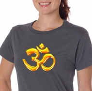Ladies Yoga Shirt 3D OM Organic Tee T-Shirt
