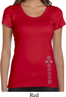 Ladies Yoga Shirt 7 Chakras Bottom Print Scoop Neck Tee T-Shirt