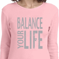 Ladies Yoga Shirt Balance Your Life Long Sleeve Tee T-Shirt