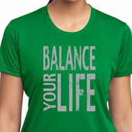 Ladies Yoga Shirt Balance Your Life Moisture Wicking Tee T-Shirt