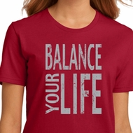 Ladies Yoga Shirt Balance Your Life Organic Tee T-Shirt