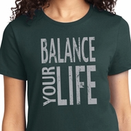 Ladies Yoga Shirt Balance Your Life Tee T-Shirt