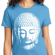 Ladies Yoga Shirt Big Buddha Head Tee T-Shirt