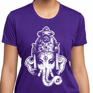Ladies Yoga Shirt BIG Ganesha Head Moisture Wicking Tee T-Shirt