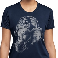 Ladies Yoga Shirt BIG Ganesha Profile Moisture Wicking Tee T-Shirt