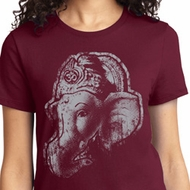 Ladies Yoga Shirt BIG Ganesha Profile Tee T-Shirt