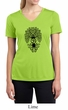 Ladies Yoga Shirt Black Bodhi Tree Moisture Wicking V-neck Tee T-Shirt