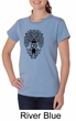 Ladies Yoga Shirt Black Bodhi Tree Organic Tee T-Shirt