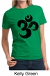 Ladies Yoga Shirt Black Distressed OM Tee T-Shirt