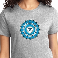 Ladies Yoga Shirt Blue Vishuddha Tee T-Shirt